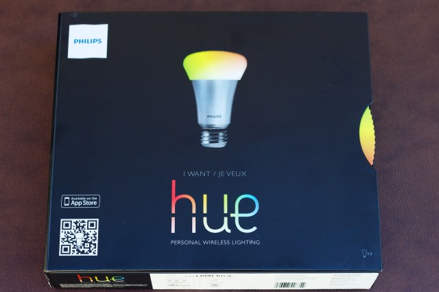 The front of the Hue box, with its wheel. OMG IT SPINS.