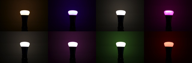A sampling of some of the colors the Hue bulbs can produce.