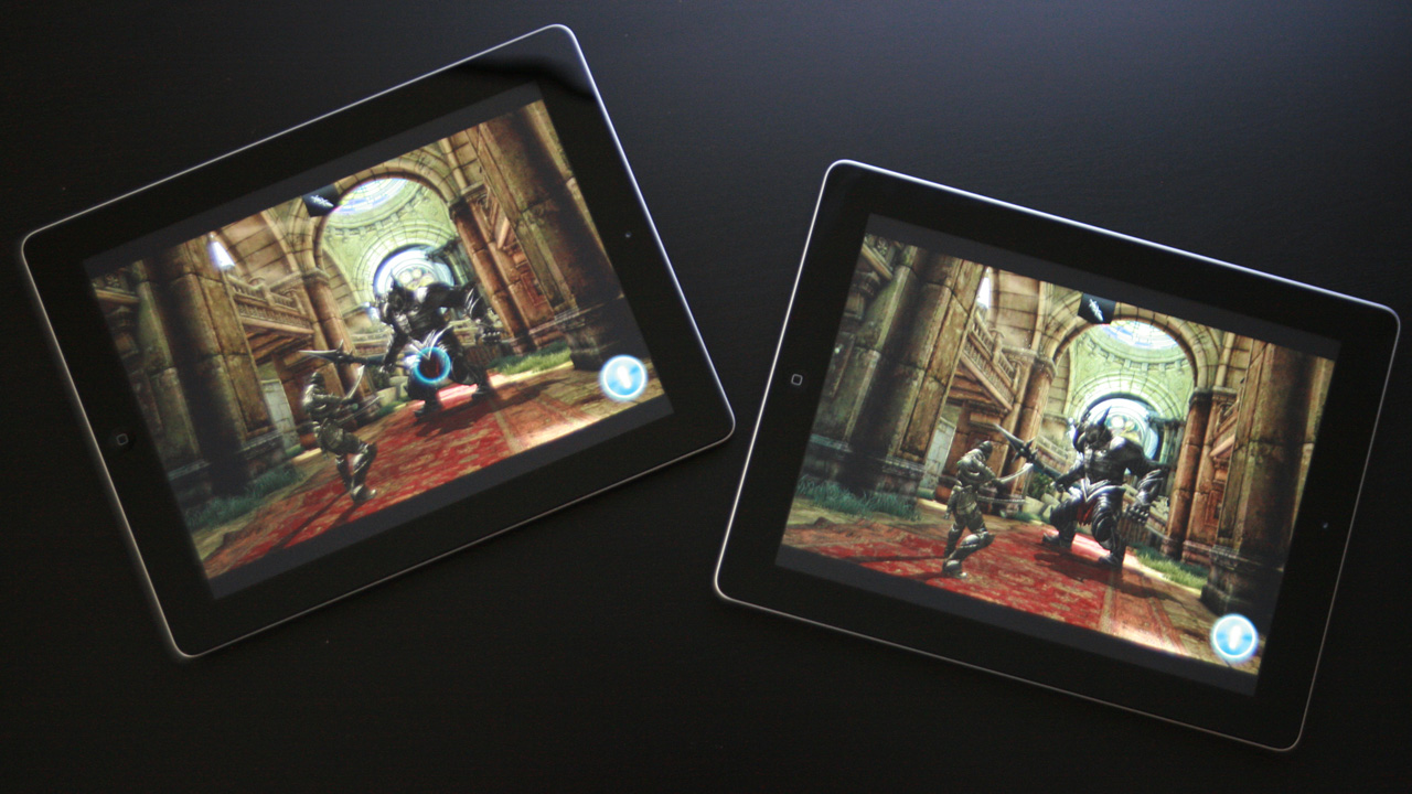 3D gameplay felt identical on both recent iPad generations, despite the 2x performance advantage of Apple's latest A6X mobile processor.