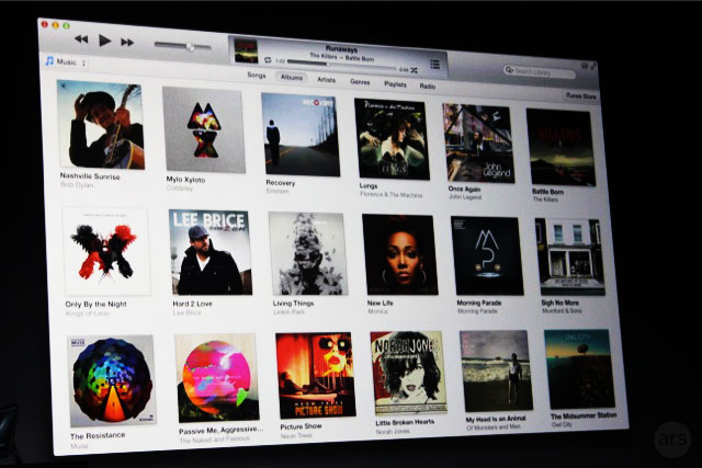 The newest version of iTunes will have a more album-focused interface.