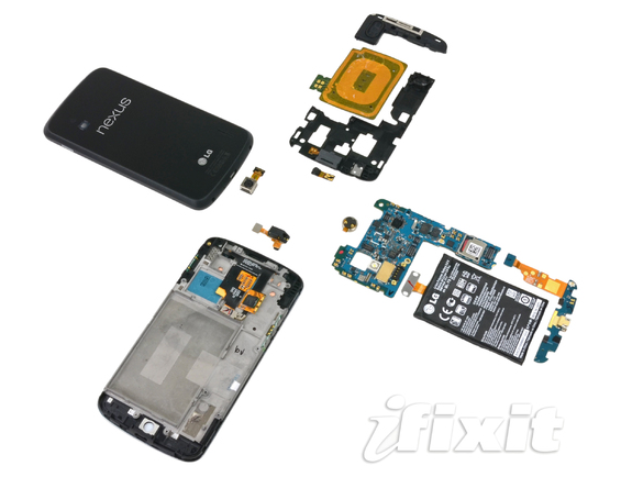 iFixit tears apart the Nexus 4, finds surprise LTE chip