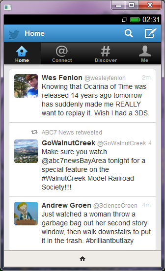 The Twitter application on Firefox OS is already full-functioning.