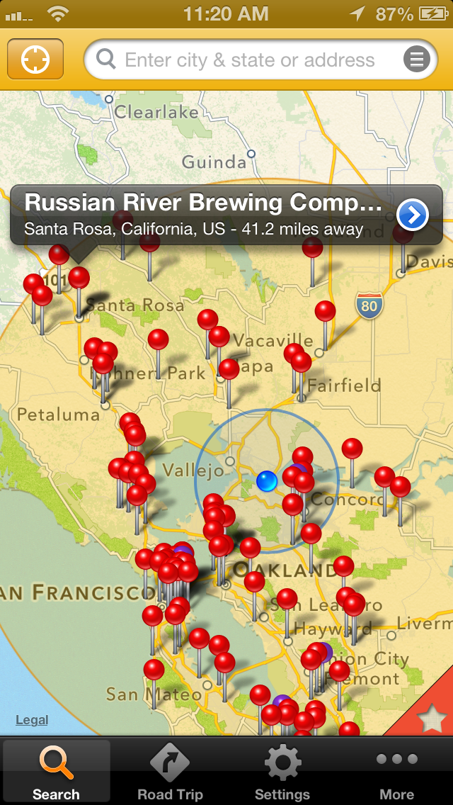 If you're looking for adventure, use BreweryMap to take you on a road trip for your favorite beer.