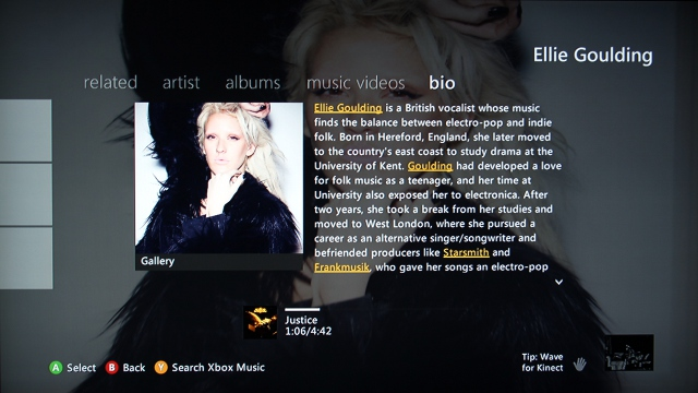 Each artist's bio page features clickable links to discover other artists or producers who are associated.