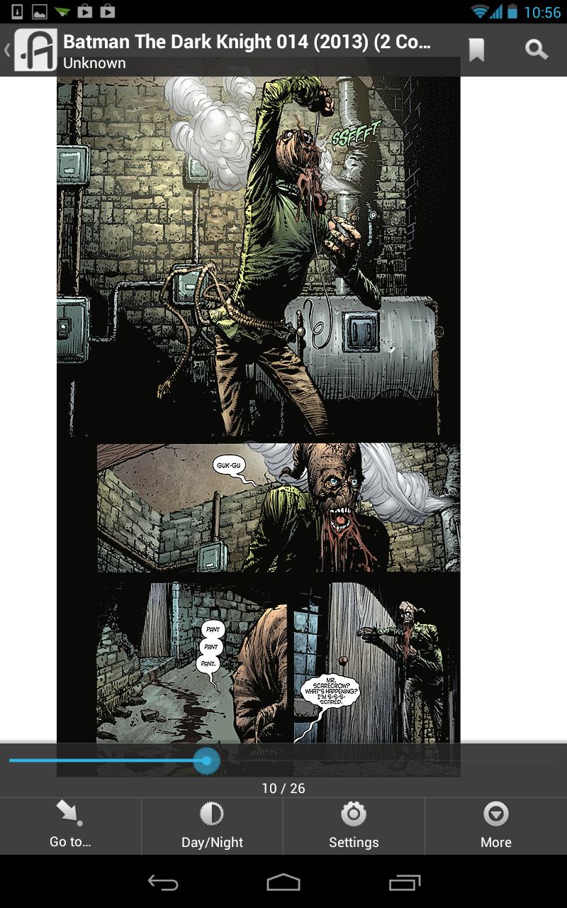 What comics look like viewed inside Aldiko.