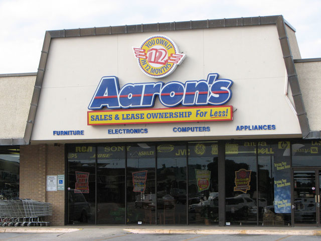 An Aaron's in Denton, Texas.