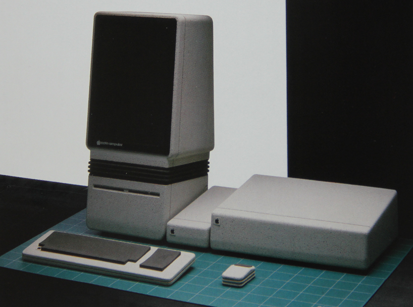 "The ""Americana"" design concept for the original Macintosh, inspired by Studebaker automobiles, Electrolux appliances, and the iconic Coca-Cola bottle."