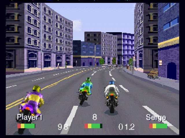 <em>Road Rash</em>on the 3DO. These graphics were awesome in 1994.