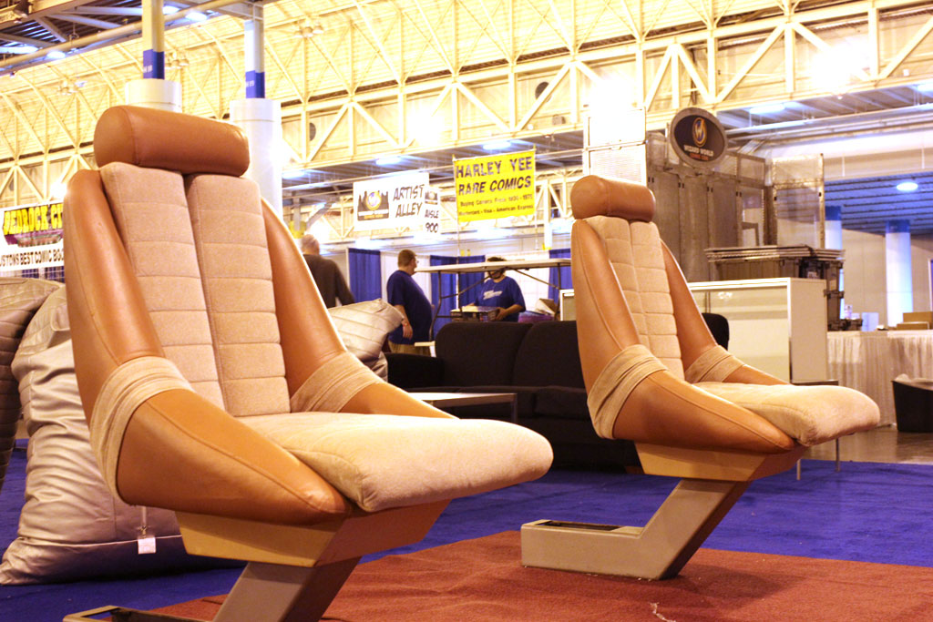 For now, these chairs are the only part of the restored Enterprise-D bridge that are anywhere close to being finished.