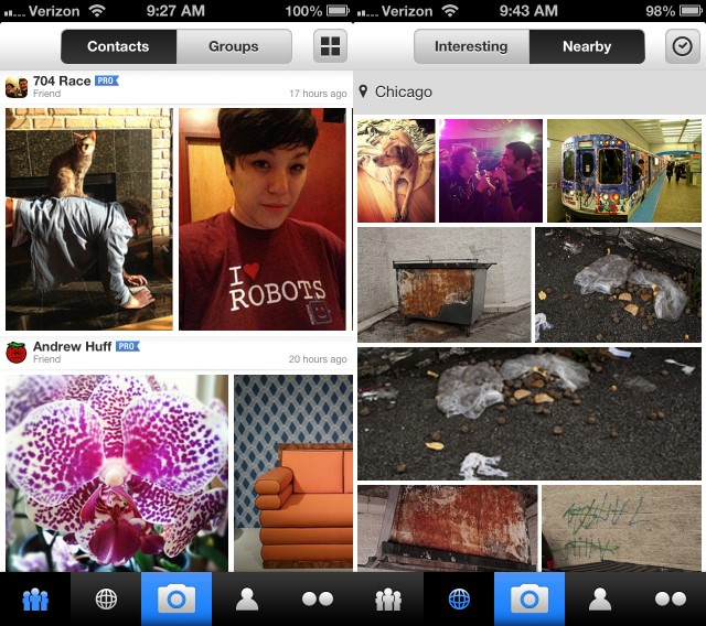 The updated Flickr iOS app offers a vastly improved browsing experience, making social interaction much easier.