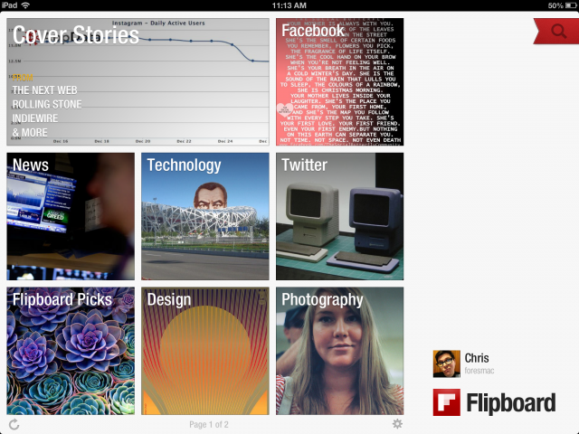 Flipboard combs the Web for top stories on your favorite subjects.