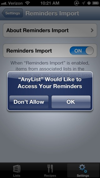AnyList can import reminders from the Reminders app that you set with Siri (or just your thumbs).