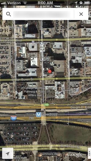 Satellite view.