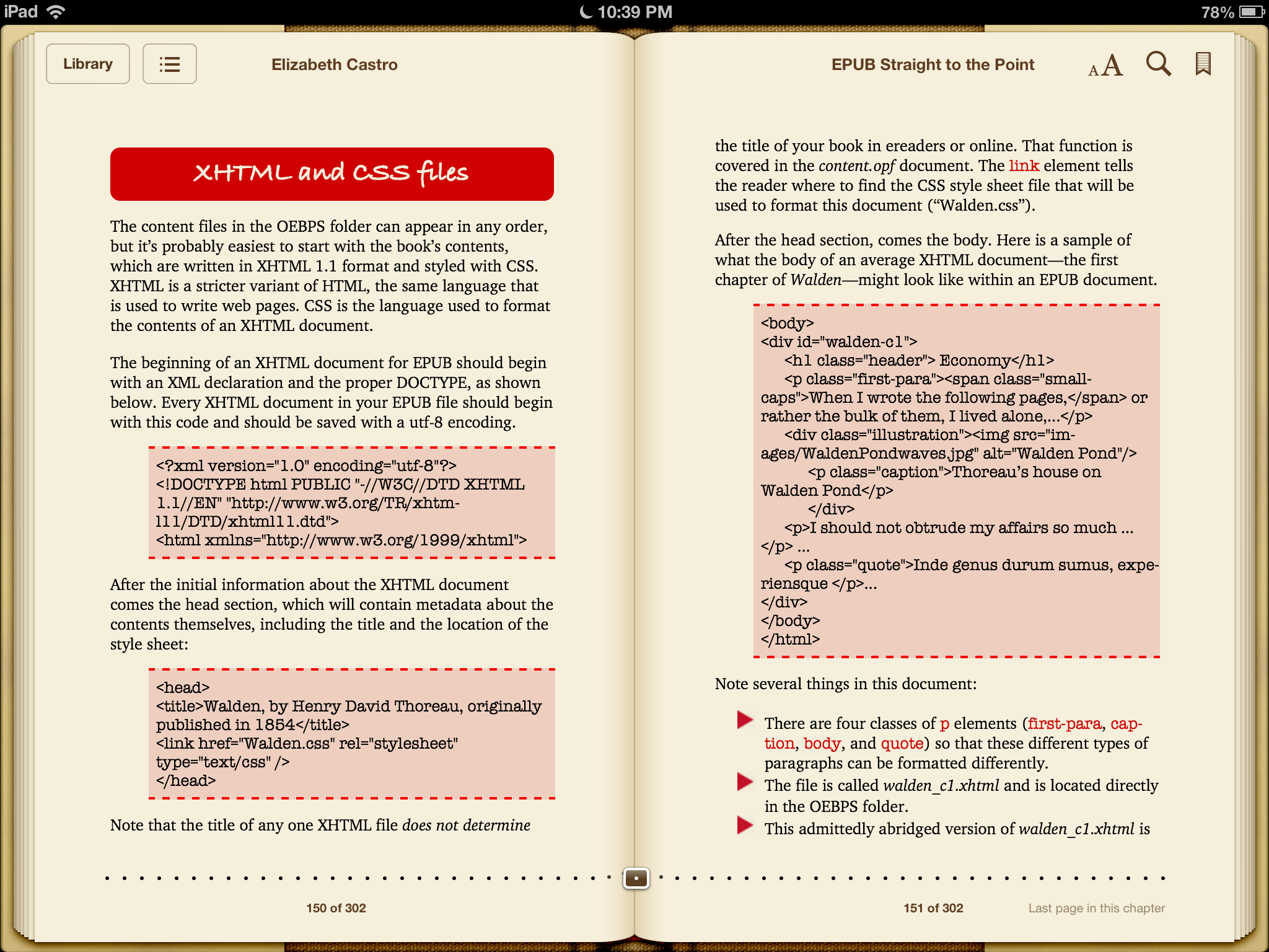 iBooks can handle standard ePub and PDF files in addition to books purchased from the iBookstore.