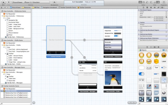 Interface Builder is now directly integrated into Xcode.