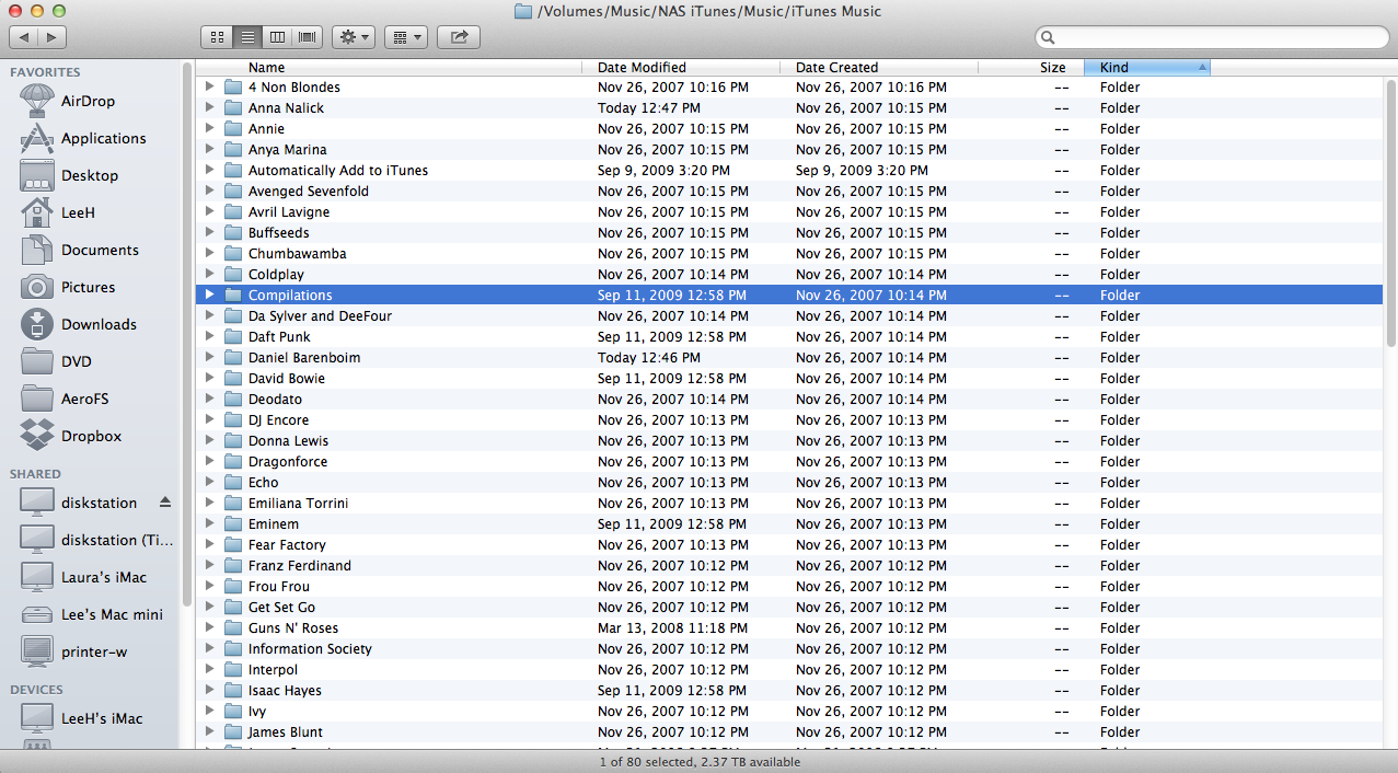 iTunes has not aged gracefully, spilling folders everywhere.