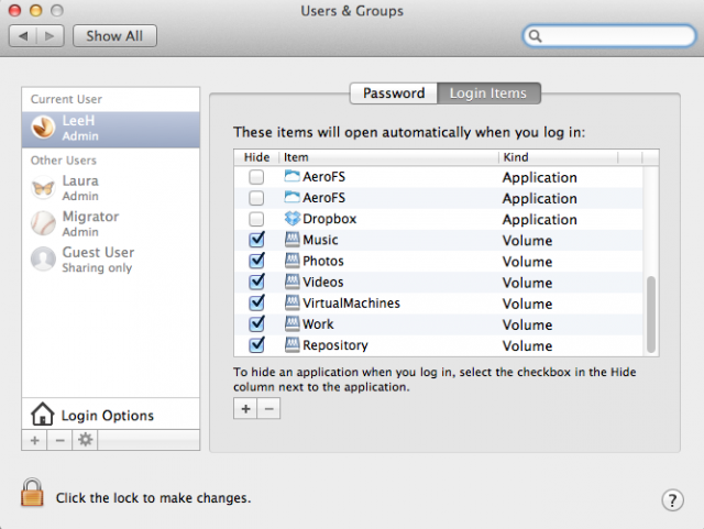 Auto-mounting our network share under OS X.