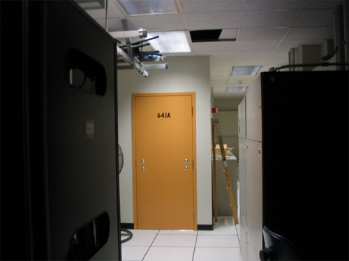 "The ""secret room"" in AT&T's Folsom Street office in San Francisco is believed to be one of several Internet wiretapping facilities at AT&T offices around the country feeding data to the NSA. Mark Klein"