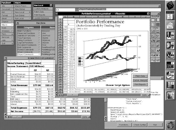 You can see the roots of Apple's Numbers, the spreadsheet app from its iWork suite, in ParaSheet for NeXTSTEP.