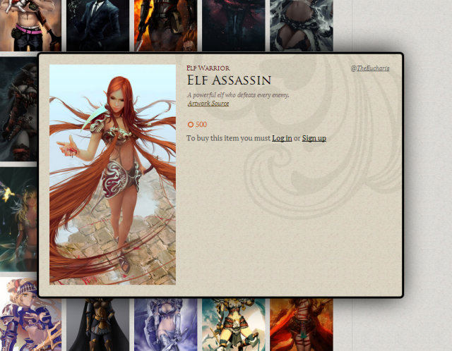 It's because it's being used on Tweeria's site as an avatar for the elf assassin.