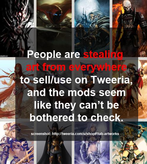 Image found on Tumblr regarding the Tweeria image controversy.