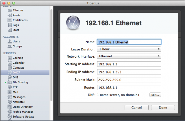 The DHCP service is a solid replacement for the one included with most home routers.