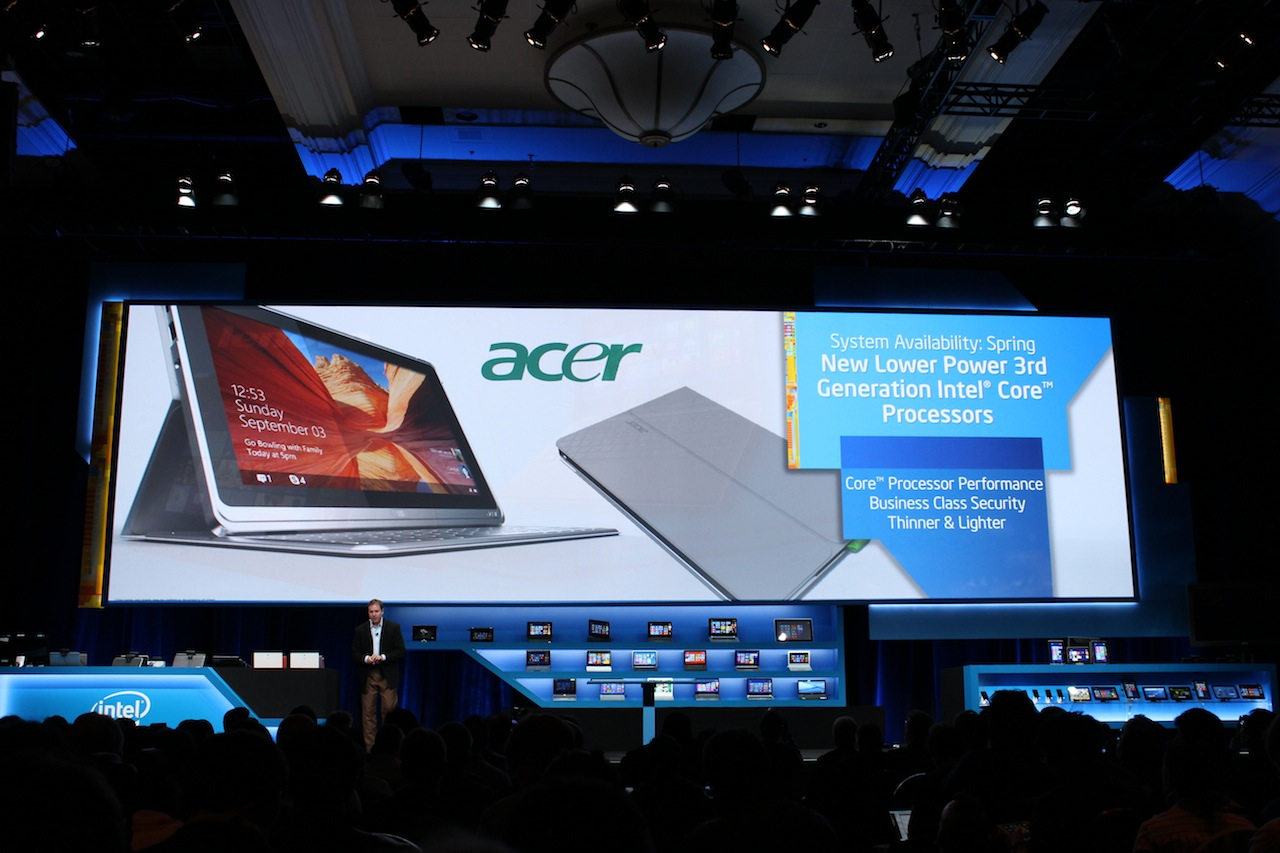 Intel showed off another Acer tablet with the low-power Y-series Ivy Bridge CPUs at its CES press briefing, making the W700 a little harder to recommend.