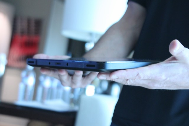 The Edge is only about twice as thick as a standard iPad.