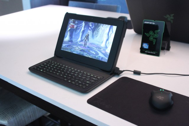 A prototype keyboard case that will turn the Edge into more of a gaming laptop.