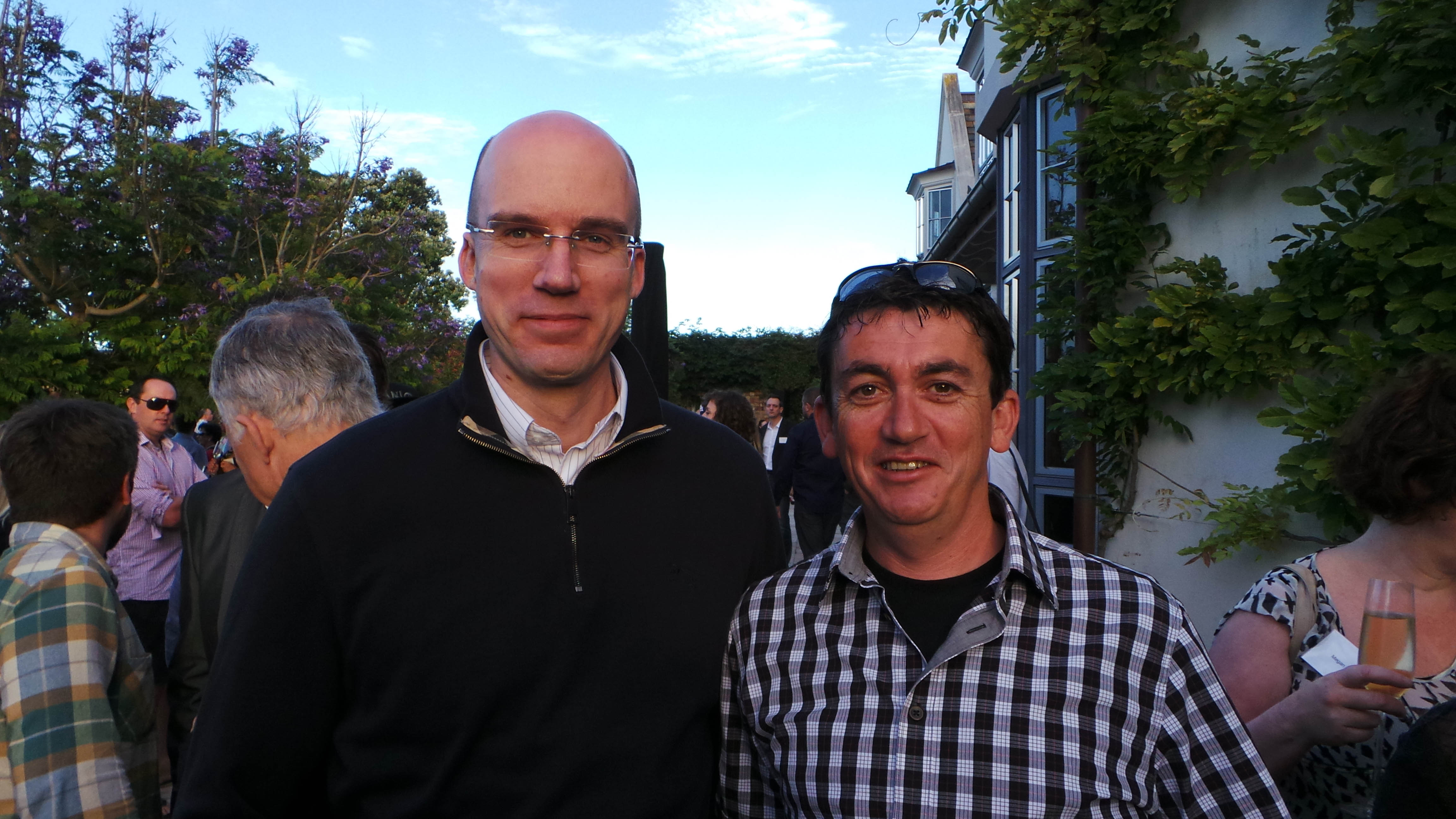 Lentino poses with EuroDNS founder Xavier Buck (left).