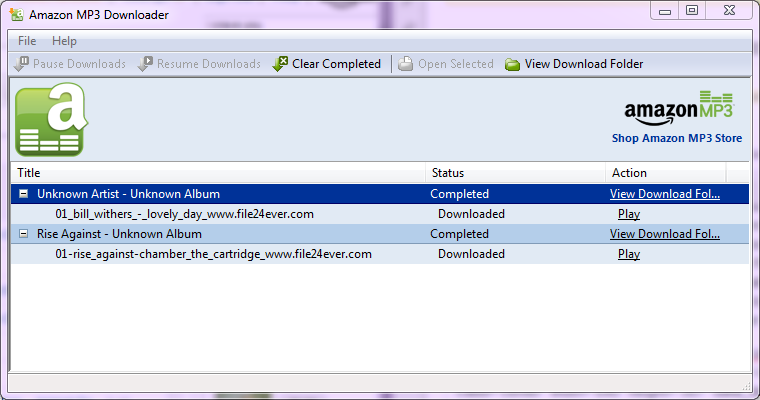 You'll need the Amazon MP3 Downloader to extract music tracks from the Web.