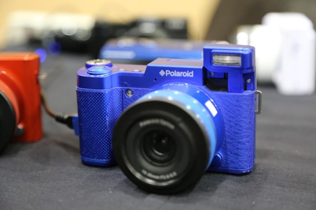 Polaroid's Android-powered camera features interchangeable lenses with integrated sensors—a technique Ricoh used to better effect for its GXR camera.