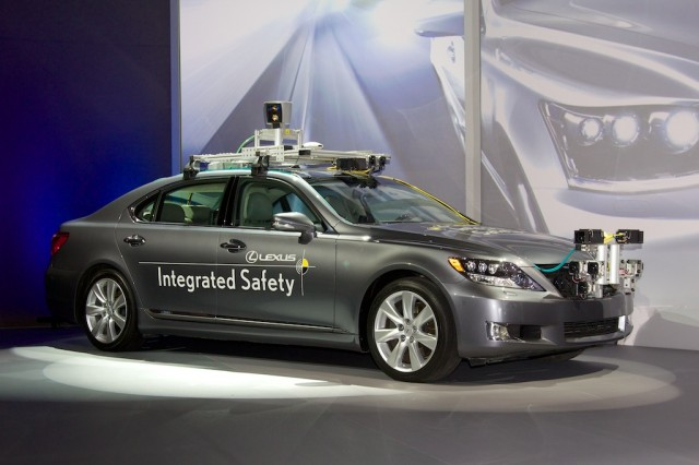 Lexus's Advanced Active Safety Research Vehicle. It's looking at you right now.