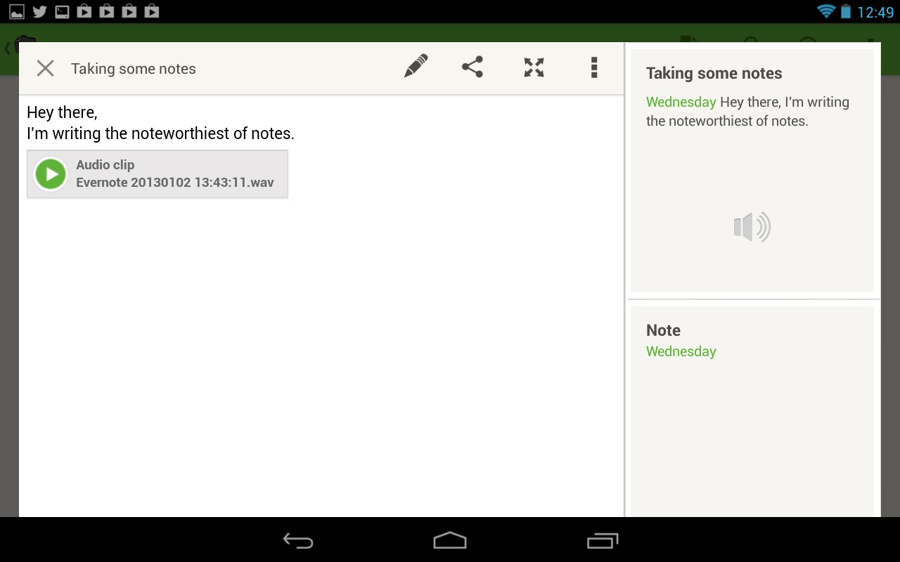 Evernote is part word processor, part organizer.