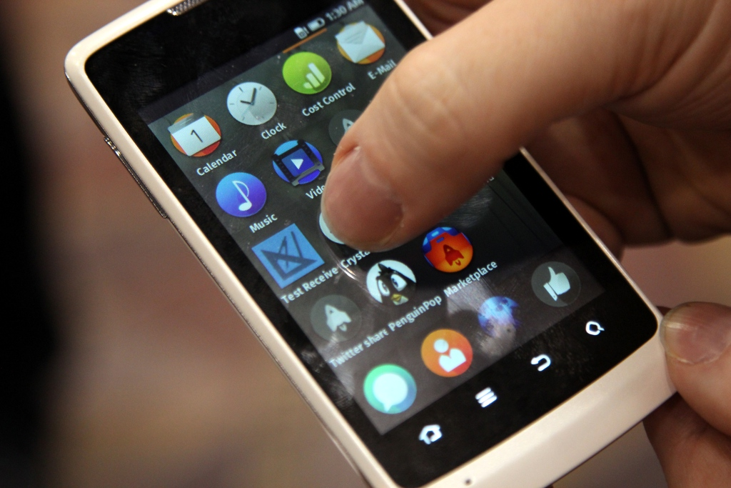 Firefox OS in action.