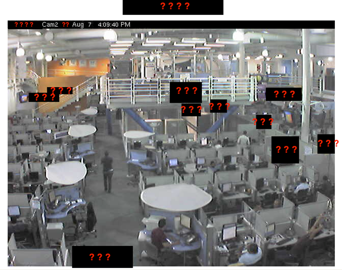 "An image retrieved from high-definition surveillance cameras used by a large company. During a penetration test, Trustwave employees used them to steal ""tons"" of login credentials."