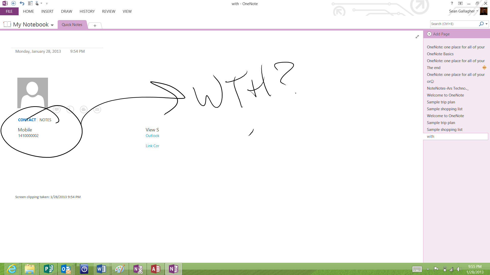 Some day, I'll actually figure out something useful to do with OneNote 2013.