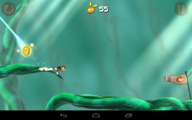 Rayman Jungle Run is both pretty to look at and fun to play.