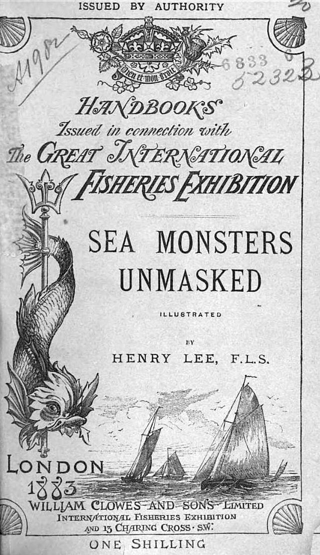 Cover to <em>Sea Monsters Unmasked</em>, 1883.
