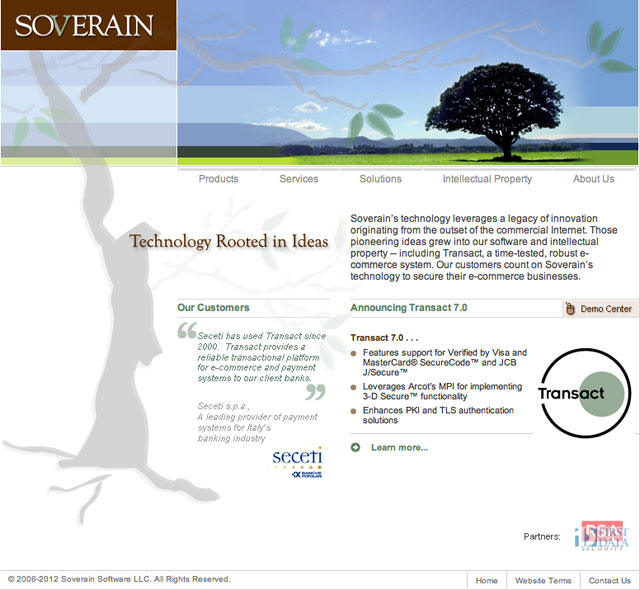 Soverain Software's website gives the impression of an active, thriving company, not a patent troll.