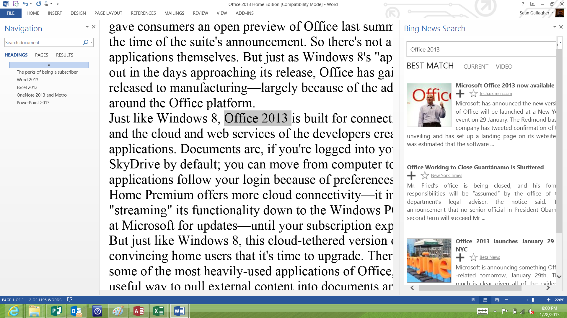 I don't think Steve Ballmer would be pleased to see Office 2013 associated with Gitmo.