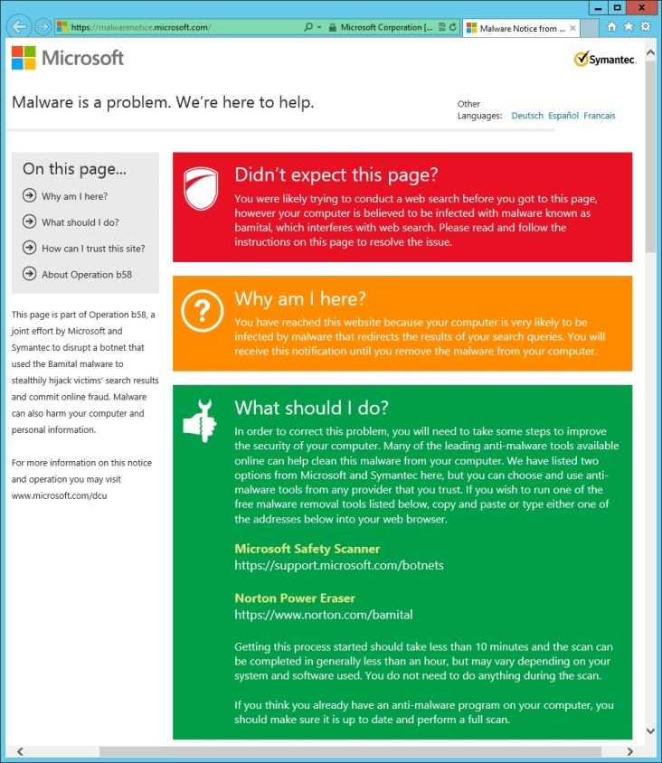 Massive search fraud botnet seized by Microsoft and Symantec