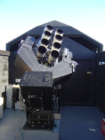 The WASP telescope, a ground-based planet hunter.