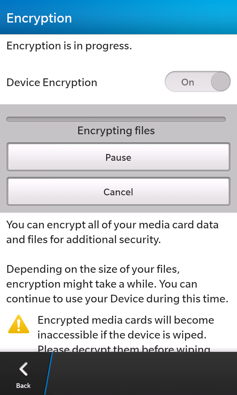 Easily encrypt your files with just the flick of a switch.