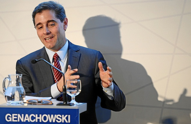 FCC Chairman Julius Genachowski. No, this man is not going to replace your home Internet and cell phone connection with free Wi-Fi.