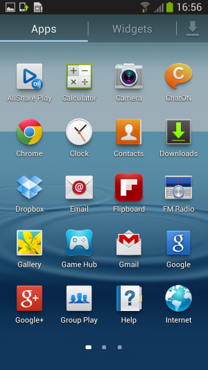 The apps screen looks exactly like the old apps screen, so not much has changed there.