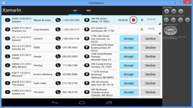 The field service app.