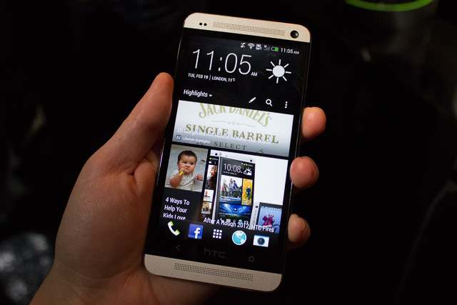 The HTC One is pretty big.