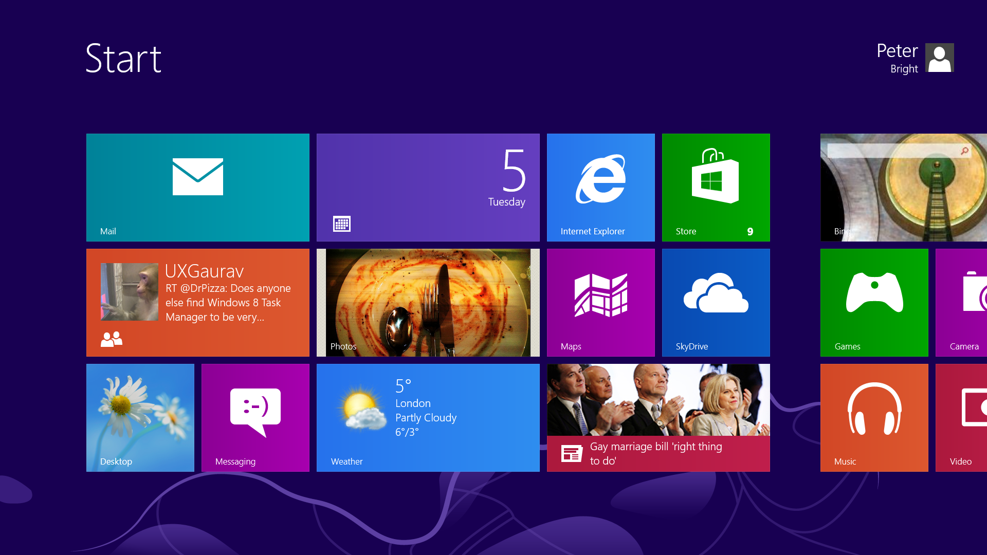 The Start screen on Surface Pro looks damn near identical to Surface RT.