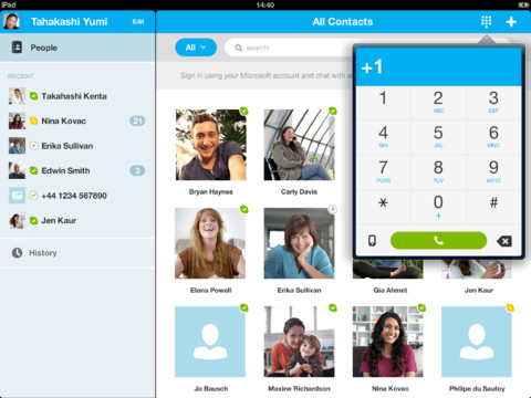 Finally, you can load your account with money directly from within the Skype app.